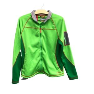 CABELAS Lime Green Fleece Lined Utility Jacket
